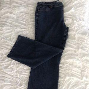 Medium Wash Straight Blue Jeans